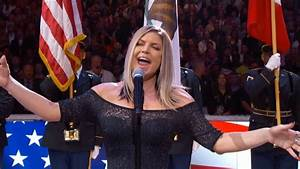 Fergie Performs The U.S. National Anthem / 2018 NBA All ...
