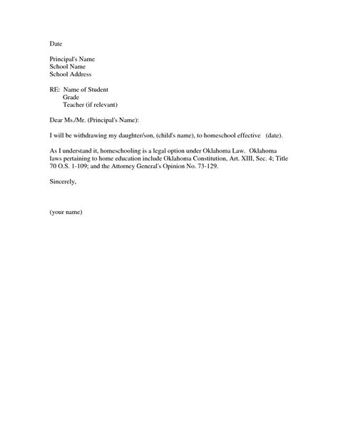 application letter  withdrawal  school letter