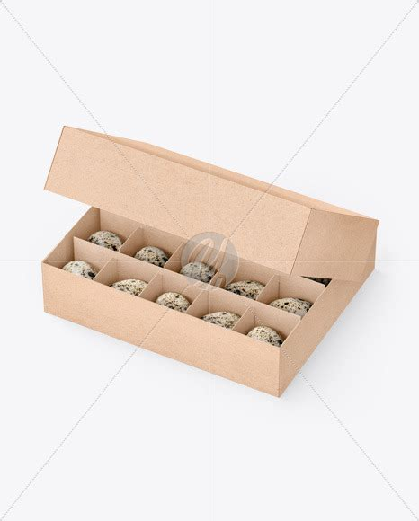 The mockup uses smart object layers for customization with simple steps which ta развернуть. Kraft Box With Quail Eggs Mockup in Box Mockups on Yellow ...