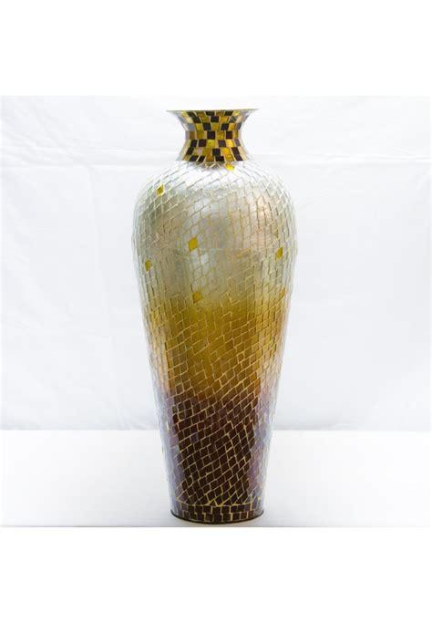 decorative glass vases buy 20 quot hora nouveau vase metal floor vase with