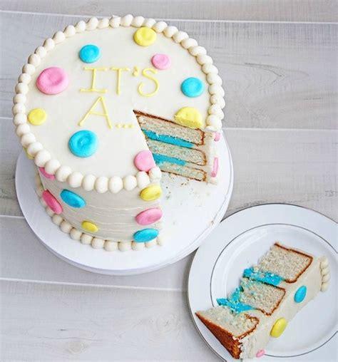 sweet  silly gender reveal cake ideas babypreppingcom