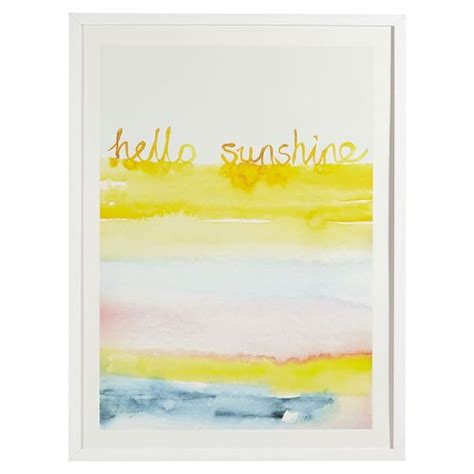 Hello Sunshine Wall Art By Minted®  Pbteen