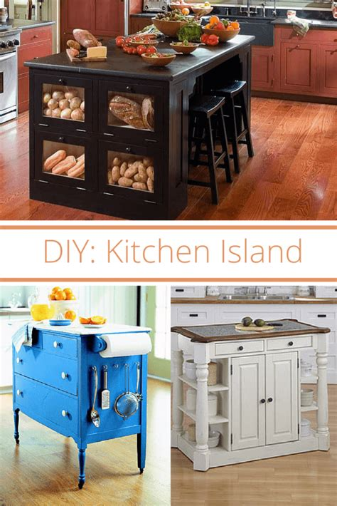 simple kitchen islands two simple diy kitchen island designs kitchen remodeling
