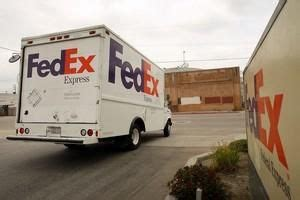 Write a complaint to the better business bureau. Shipping More Abroad Sends Fedex Stock To $114