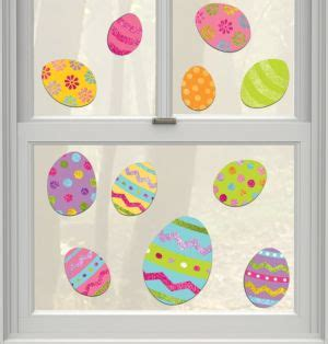 round table pizza eastern and warm springs glitter easter egg cling decals 11ct party city