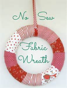 diy no sew fabric wreath for the homemakery