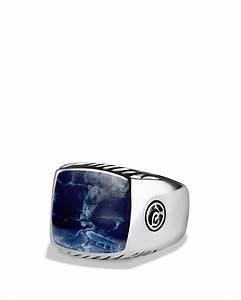 Lyst David Yurman Exotic Stone Large Band Ring With