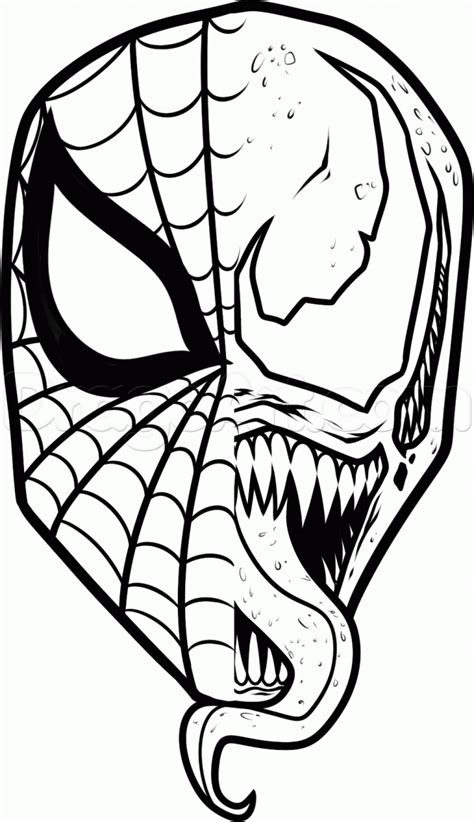 venom coloring pages    clipartmag