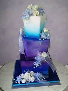 purple wedding cake purple and blue wedding cake cakedreamingwithdiane