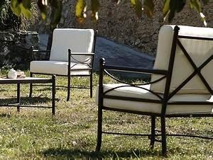 Fauteuil Fer Forgé : fauteuil nilo en fer forg haut de gamme salon de jardin lotusa ~ Teatrodelosmanantiales.com Idées de Décoration