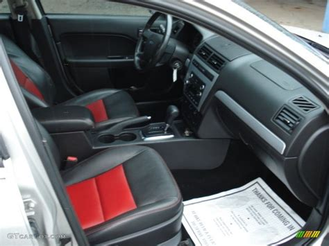 Charcoal Black/red Interior 2008 Ford Fusion Se Photo