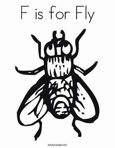 F is for Fly Coloring Page - Twisty Noodle