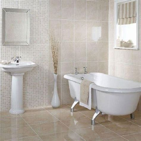 Tile Ideas For Small Bathrooms by Wall Of Tile Megans House Small White