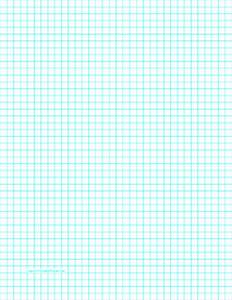 printable graph paper with four lines per inch on letter With graph paper letter size