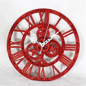 Horloge Murale Rouge : horloge rouge ~ Teatrodelosmanantiales.com Idées de Décoration