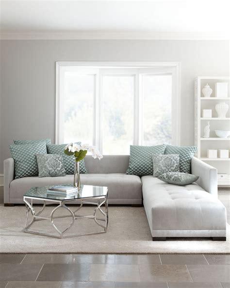 Light Grey Sectional Sofa Living Room With Light Grey