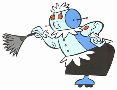 Robot Jetsons Rosie Cleaning Transparent
