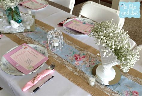 shabby chic table decorations a shabby chic bridal shower part 1 the blue eyed dove