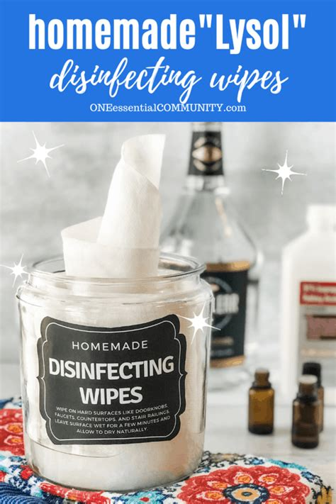 """Homemade """"Lysol"""" Disinfecting Wipes - One Essential Community"""