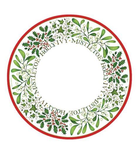 christmas paper plates and napkins