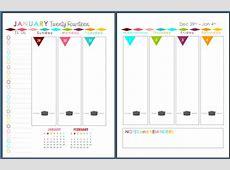 Sherbert Cafe 2014 Planner Printable