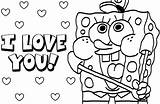 Spongebob Coloring Characters sketch template