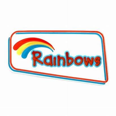 Rainbow Badge Girlguiding Rainbows Guide Rubber Purpose