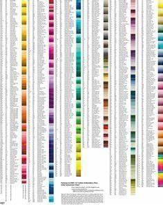 Embroidery Thread Conversion Chart Dmc Anchor Semco