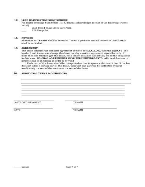 pennsylvania standard residential lease agreement