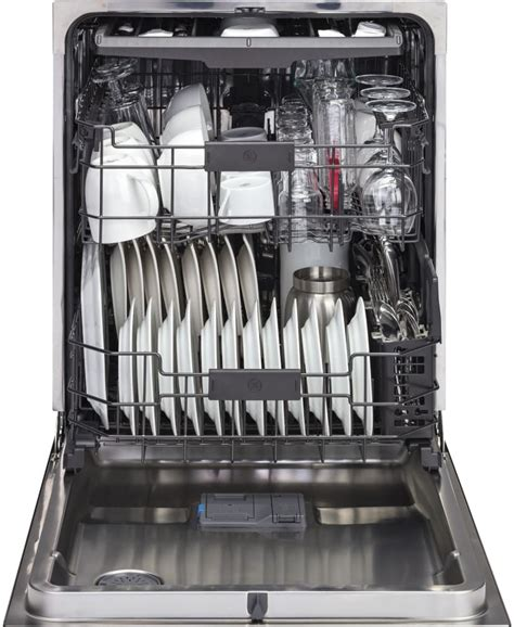 ge gdtsflds   fully integrated dishwasher  stainless steel interior piranha food