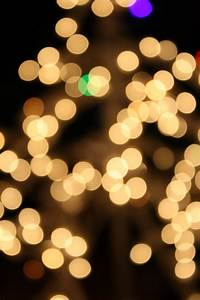 White, Christmas, Lights, Picture