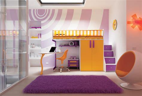 chambre en mezzanine chambre enfant avec lit mezzanine design compact