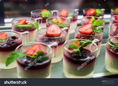 canape desserts dessert canape stock photo 234415744