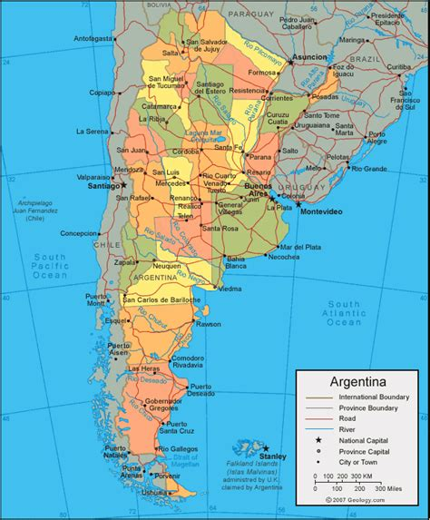 argentina map  satellite image