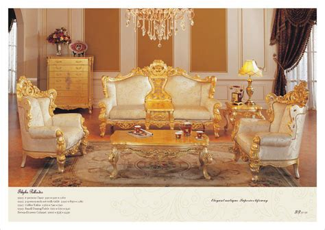 classic furniture sofa set  golden solid wood