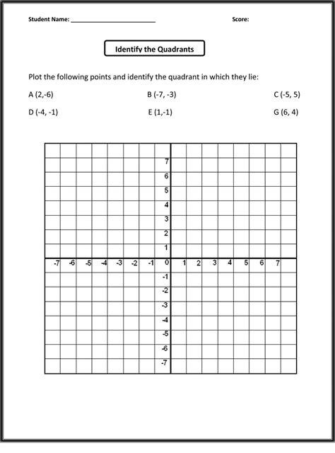 coordinate plane worksheet 5th grade printable