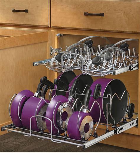 rev a shelf two tier cookware organizer two tier cookware organizer large in pull out