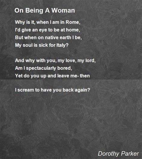 woman poem  dorothy parker poem hunter