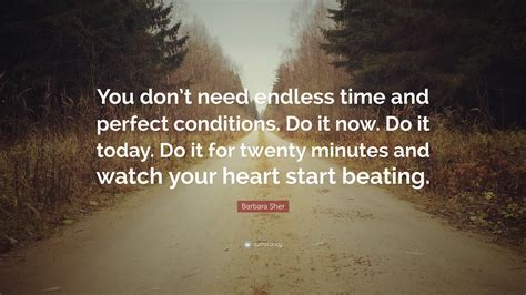 barbara sher quote  dont  endless time