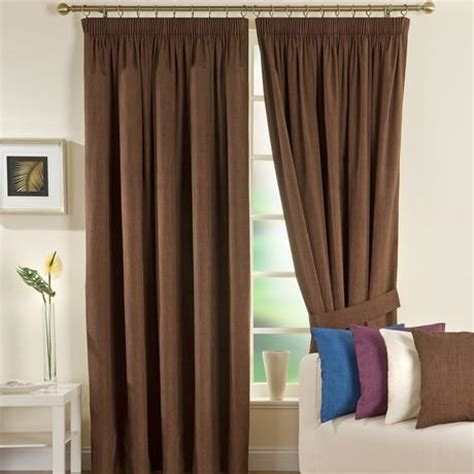 Chocolate Solar Blackout Pencil Pleat Curtain Collection