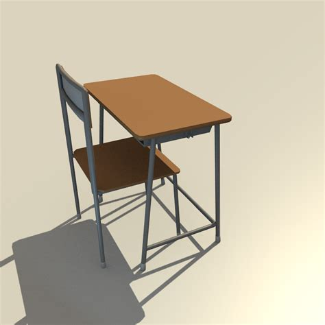 school desk and chair by pharion on deviantart