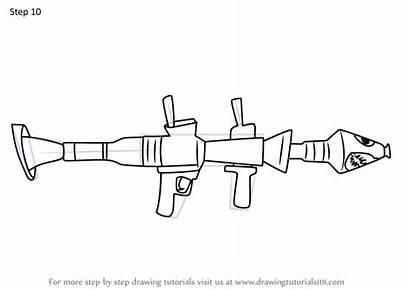 Rocket Fortnite Launcher Draw Step Drawing Drawingtutorials101