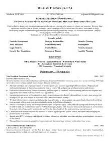 resume template portfolio manager exle resume portfolio manager augustais