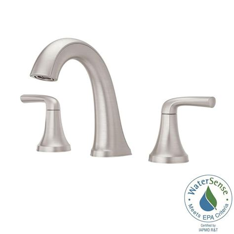 Modern Bathroom Faucets Home Depot by Pfister Ladera 8 In Widespread 2 Handle Bathroom Faucet