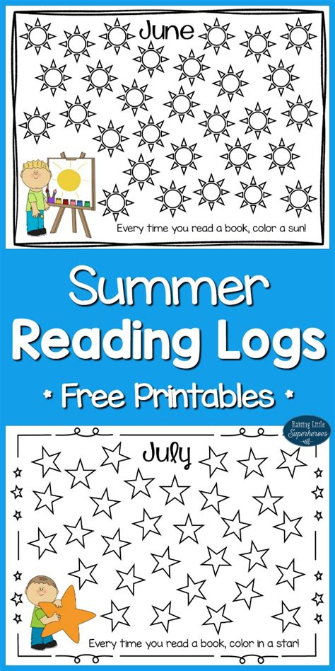 Summer Reading Logs For Kids (free Printables