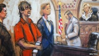 Boston bomb accused Dzhokhar Tsarnaev denies charges - BBC ...
