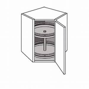 Meuble D Angle Haut Cuisine : meuble de cuisine haut d 39 angle avec 2 plateaux twist cuisine ~ Teatrodelosmanantiales.com Idées de Décoration