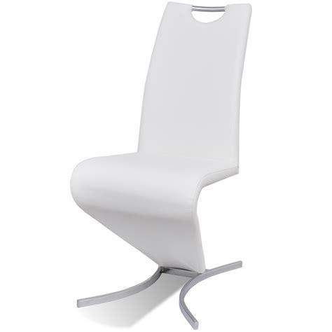 chaise blanc la boutique en ligne chaise en simili cuir cantilever avec