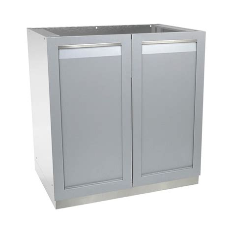 life outdoor stainless steel assembled xx  outdoor kitchen base cabinet   full