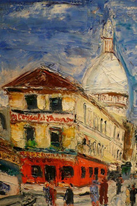 bureau de change rue montmartre le march 233 biron genin lucien peinture 20 232 me si 232 cle vue de montmartre rue norvins tableau